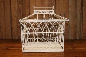 White Love Bird Cage