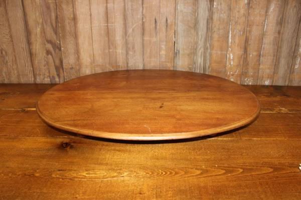 Walnut Oval Spool Riser
