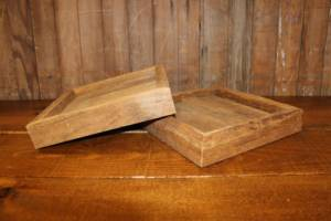 Barn Wood Square Trays