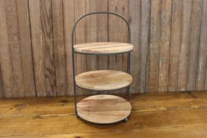 Wood & Iron 3-Tier Stand