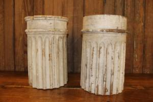 Worn White Pillar Risers