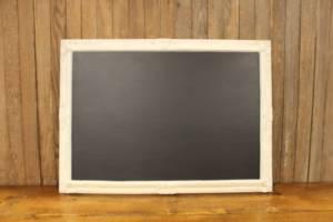 F175 White Detailed Cornered Chalkboard