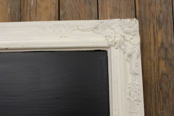 F175 White Detailed Cornered Chalkboard