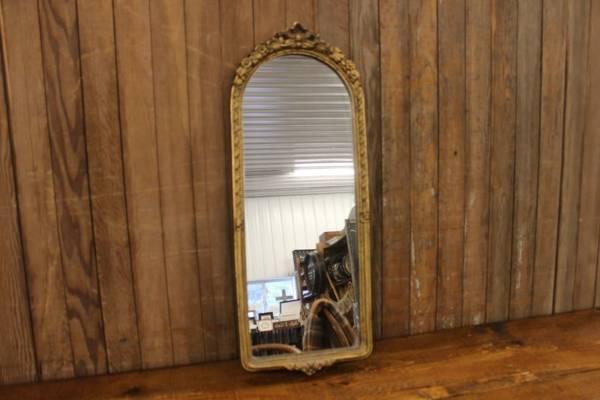 Round Top Gold Mirror