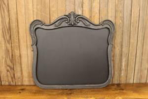 F199: Gray Curved Mirror Chalkboard