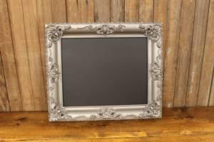 F249 Steel Gray Ornate Chalkboard