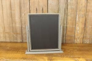 F262: Silver Art Deco Chalkboard