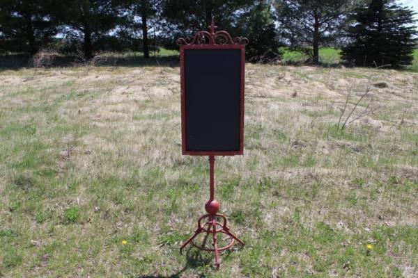 F220 A&B: Red Standing Chalkboard