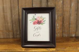 2: Rustic Floral Gifts & Cards Sign
