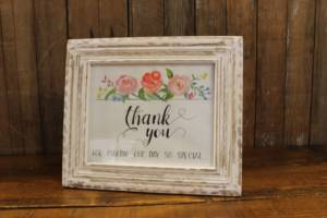 J5: Shabby Chic Thank You Sign