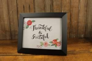 J11: Thankful & Grateful Sign