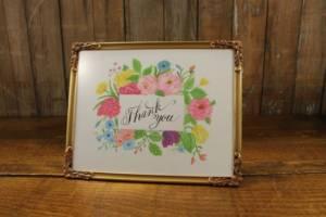 J10: Spring Floral Thank You Sign