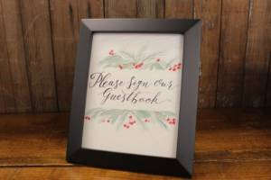 J15: Winter Guestbook Sign
