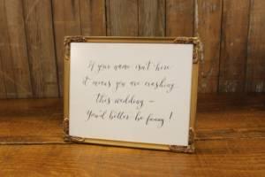 J14: Wedding Crashers Sign