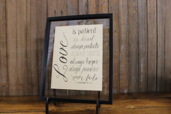 J20: Love is Patient Sign