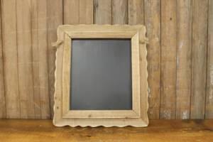 F218 A&B: Hanging Ruffled Barn Wood Chalkboard