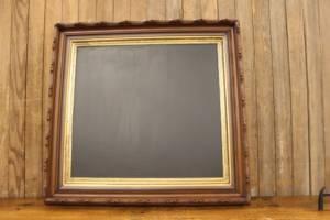 F184: Walnut Carved Gesso Chalkboard