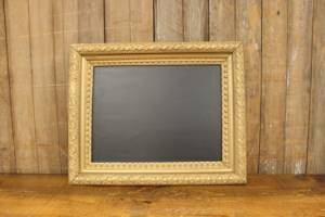 F215: Raised Edge Gold Chalkboard