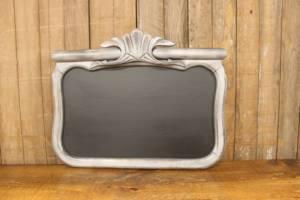 F246: Silver Gray Crown Top Chalkboard