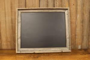 F203: Gray Barn Wood Chalkboard
