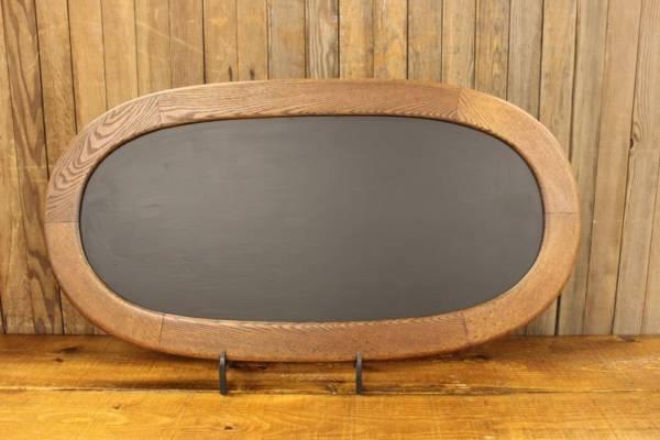 F186: Oak Oval Chalkboard-L