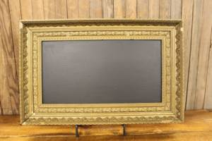 F305 Gold Thick Trimmed Chalkboard