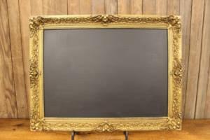 F253: Gilded Gold Chalkboard