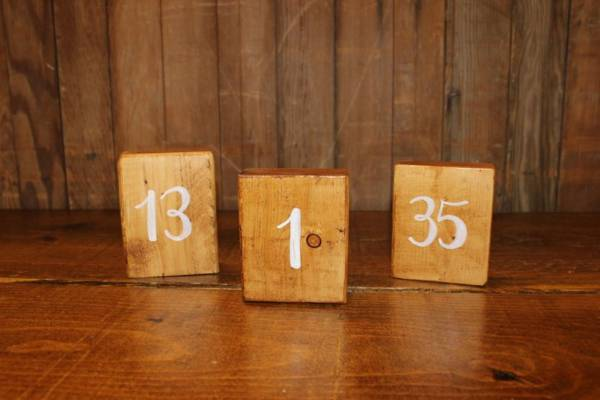 Wood Square Table Numbers
