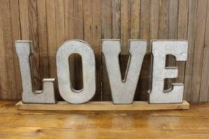 Galvanized 'LOVE' Letters