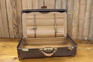 Chocolate Leather Suitcase
