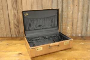 Tan Leather Suitcase