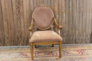Faded Paisley Queen Anne Chair