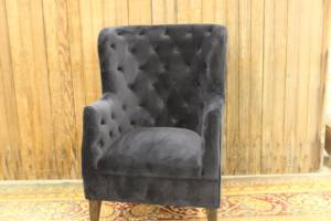 Navy Blue Velvet Chair
