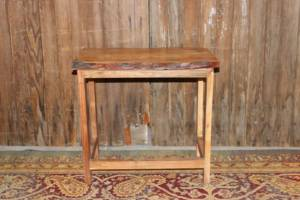 Rustic Edge Side Table