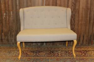 Cream Backed Bench