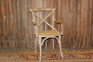 Cane Cross Backed Chairs