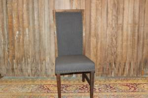 Dark Gray High Back Chair