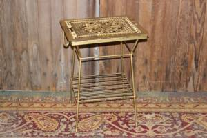 Gold Grate Side Table