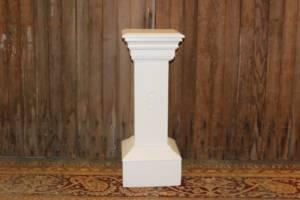 White Fraternal Pedestals