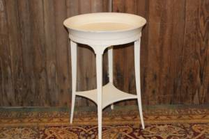 Ivory Round Side Tables
