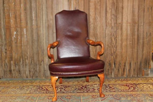 Burgundy Leather Chair