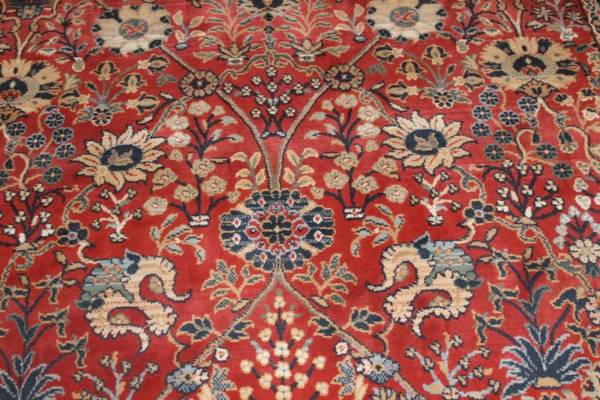 """Henry"" Red & Navy Oriental Rug-L"