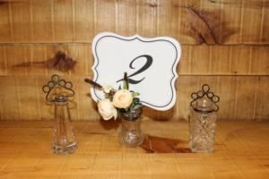 Glass Salt Card Holders -Vintique Rental WI