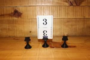 Black Card Holders -Vintique Rental WI