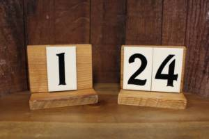 Address Tile Table Numbers -Vintique Rental WI