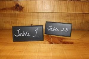 Chalkboard ID Table Numbers -Vintique Rental WI
