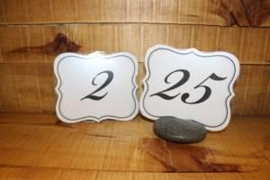 White & Black Table Numbers- Vintique Rental-WI