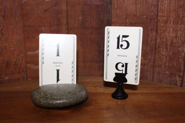 Art Deco Playing Card Table Numbers -Vintique Rental-WI