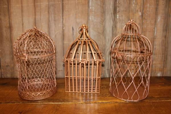 Mismatch Bronze Birdcages- Vintique Rental WI