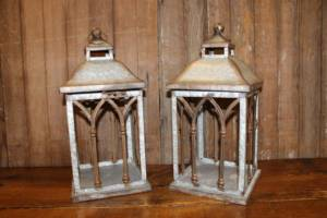 Rusted Galvanized Lantern- Vintique Rental WI
